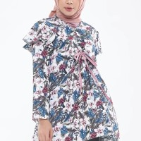 Eclemix Floris Top Tropical Printing Motif Atasan Muslimah
