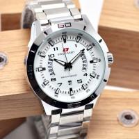Jam Tangan Pria Swiss Army Rantai Silver Tanggal Hari Aktif