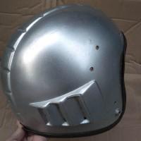 Helm Robot Ori Jadul Warna Silver