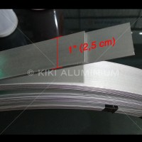 "Plat Strip Aluminium 1"" (2,5 cm) SUPEREX, Tbl. 2 mm, Pjg. 6 meter"