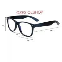 kacamata antiradiasi uv400 mata normal pria wanita