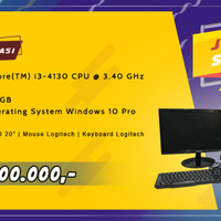 PC / Komputer 1 Set - Intel Core i3/4GB/500GB Windows 10 Pro