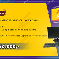 PC / Komputer 1 Set - Intel Core i3/2GB/500GB Windows 10 Pro