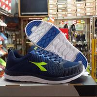 Jual Original DIADORA. FABERO Navy Lime. Sepatu Running Gym Senam Jogging Murah