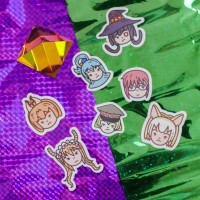 Various Kawaii Anime Girls Sticker by Peter Cung