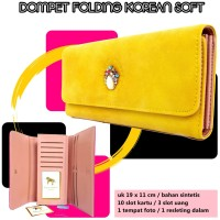 Dompet wanita folding Korean soft KUNING