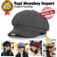 TOPI BARET NEWSBOY IMPORT DEWASA / TOPI PET KUALITAS PREMIUM FLAT CAP