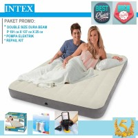 Kasur Angin HIGH QUALITY - INTEX DURA BEAM DOUBLE + POMPA LISTRIK