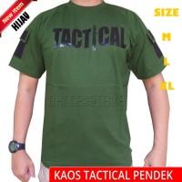 kaos tactical outdoor pendek hijau