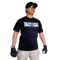 kaos tactical outdoor hitam pendek