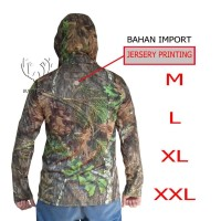 Kaos camo panjang motif mossy oak (kaos hoodie, kaos