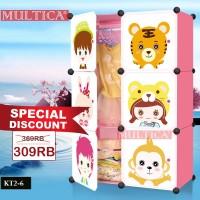 Multica Lemari Baju Pakaian Rak Buku Mainan Anak Foldable Storage