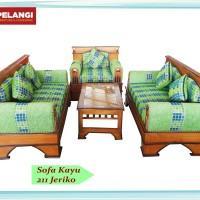 Sofa Kayu Murah Awet Solo Free Bantal sofa