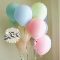 balon latex pastel / balon latex doff pastel / latex dekorasi unicorn