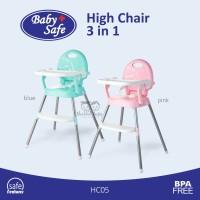 Kursi Makan Bayi 6 bulan keatas (Baby Safe - High Chair 3 in 1 HC05)