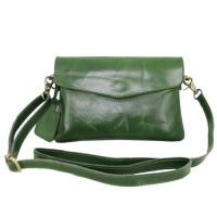 Sling/clutch PU Green Antik - Kenes Leather