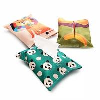 Pouch Tisue Tempat Tissue Nylon/ Tempat Tisue Panjang Travel Organizer