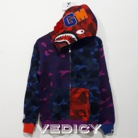f64662d3 HOODIE JAKET BAPE BATHING APE SHARK MULTICOLOR SUPER MIRROR 1:1 ORI
