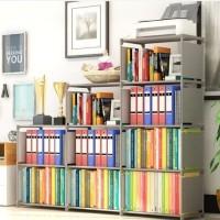 Rak Buku 3 Sisi Serbaguna Book Rack Office Portable Bongkar Pasang