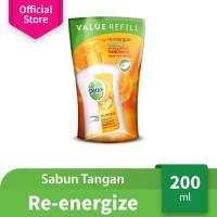 Dettol Sabun Cuci Tangan Re-Energize - Isi Ulang 200mL - Jeruk