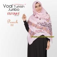 Jual Hijab Voal Turki Syari ORI Jilbab segi empat motif Kerudung Voal Jumbo Murah