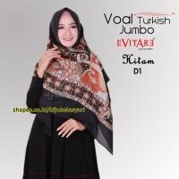 Jual Jilbab Voal Turki Syari Motif D1 Hijab Voal Kerudung Voal Ori Import Murah