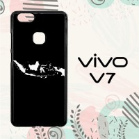 Casing Vivo V7 Custom Hardcase HP Map of Indonesia 2 LI0027