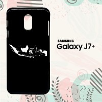 Casing Samsung Galaxy J7 Plus Custom HP Map of Indonesia 2 LI0027
