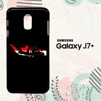 Casing Samsung Galaxy J7 Plus Custom HP Map of Indonesia LI0026