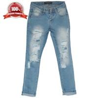 Ori Celana Boyfriend - Ga Tembus / Ripped Jeans Wanita 03710-ES