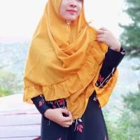 Jual Jilbab Instan pet atem Syar i jumbo rempel belah tengah tali terbaru Murah