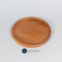 Round Tray / Nampan Kayu Bulat / Wooden Tray Diameter 20 cm