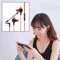 Earphone Gaming For Mobile Legend PUBG - Headset Mic Gaming