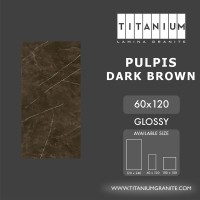 Titanium Granite - PULPIS DARK BROWN - GLOSSY - 60x120 -FREE DELIVERY