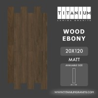 Titanium Granite - WOOD EBONY - MATT - 20X120 - FREE DELIVERY