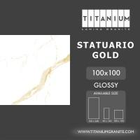 Titanium Granite - STATUARIO GOLD - GLOSSY - 100X100 - FREE DELIVERY