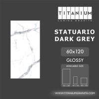Titanium Granite - STATUARIO DARKGREY -GLOSSY - 60x120 -FREE DELIVERY