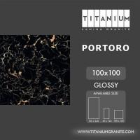 Titanium Granite - PORTORO - GLOSSY - 100X100 - FREE DELIVERY