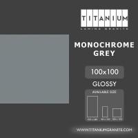 Titanium Granite - MONOCHROME GREY - GLOSSY - 100X100 - FREE DELIVERY