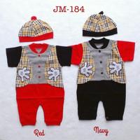 Jumper/ Romper Baju fashion jumper romper set topi anak bayi laki laki