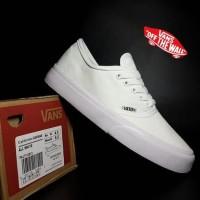 sepatu casual vans authentic fullwhite premium/ sneakers putih wanita