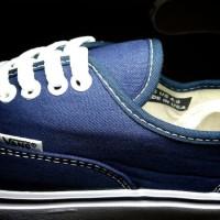 sepatu casual vans authentic premium navy / sneaker wanita dongker