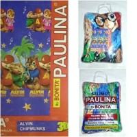 Selimut Bulu Paulina by Bonita 160x200 motif Alvin & Chipmunks