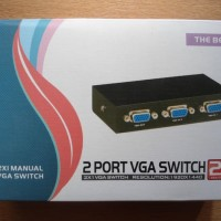KUALITAS SUPER VGA SWITCH (SELECTOR) 2 IN 1 OUT
