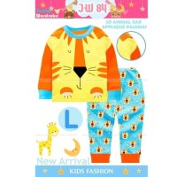 Baju Tidur Piyama Anak Cowok Laki JW 84 Singa Lion Telinga 3D