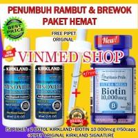 Paket Hemat Kirkland Minoxidil 5%+Biotin 10.000mcg