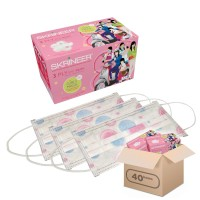 Paket Hemat Masker Skrineer '50s Girly Motif Dotty Pink 1 Karton