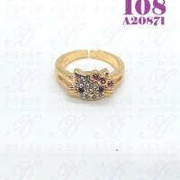 Cincin anak Hello kitty perhiasan lapis emas 18K 108