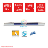 Spidol Kecil Warna (Biru) SNOWMAN PW-1A Marker Artline Standard