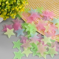 [ set isi 100pcs ] Star Wall Sticker Stiker Bintang Glow in the Dark